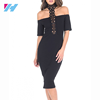 formal dresses women bodycon Simple off Shoulder dress fashion
