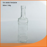 transparent 650ml alcohol bottle