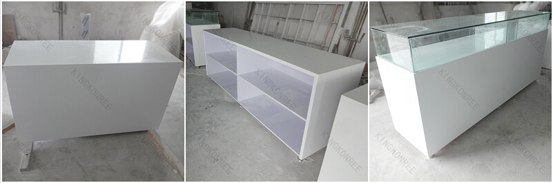 Quartz Stone Reception Desk : Artificial quartz stone reception counter desks office
