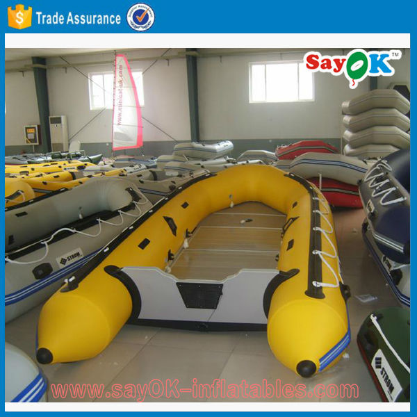 4 people inflatable rubber motor boat rigid inflatable boat with outboard motor