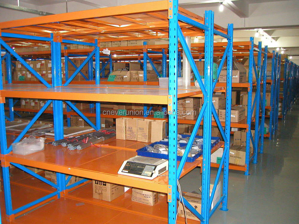 Warehouse metal multi level shelves