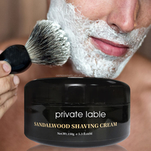 Private Label Wholesale Bulk Sandalwood scents Shaving Cream For men
