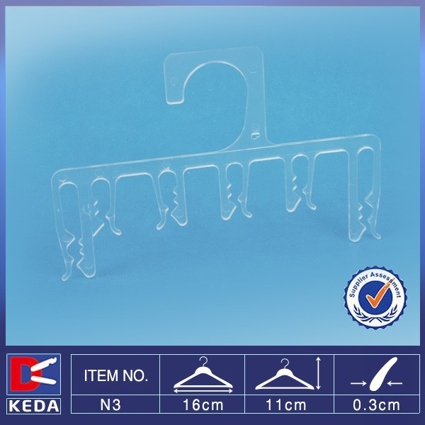 Wholesale transparent display plastic underclothes hanger pegs N3