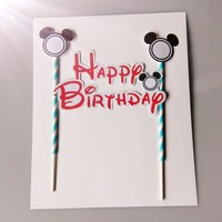 Micky mouse face birthday cake topper wholesale