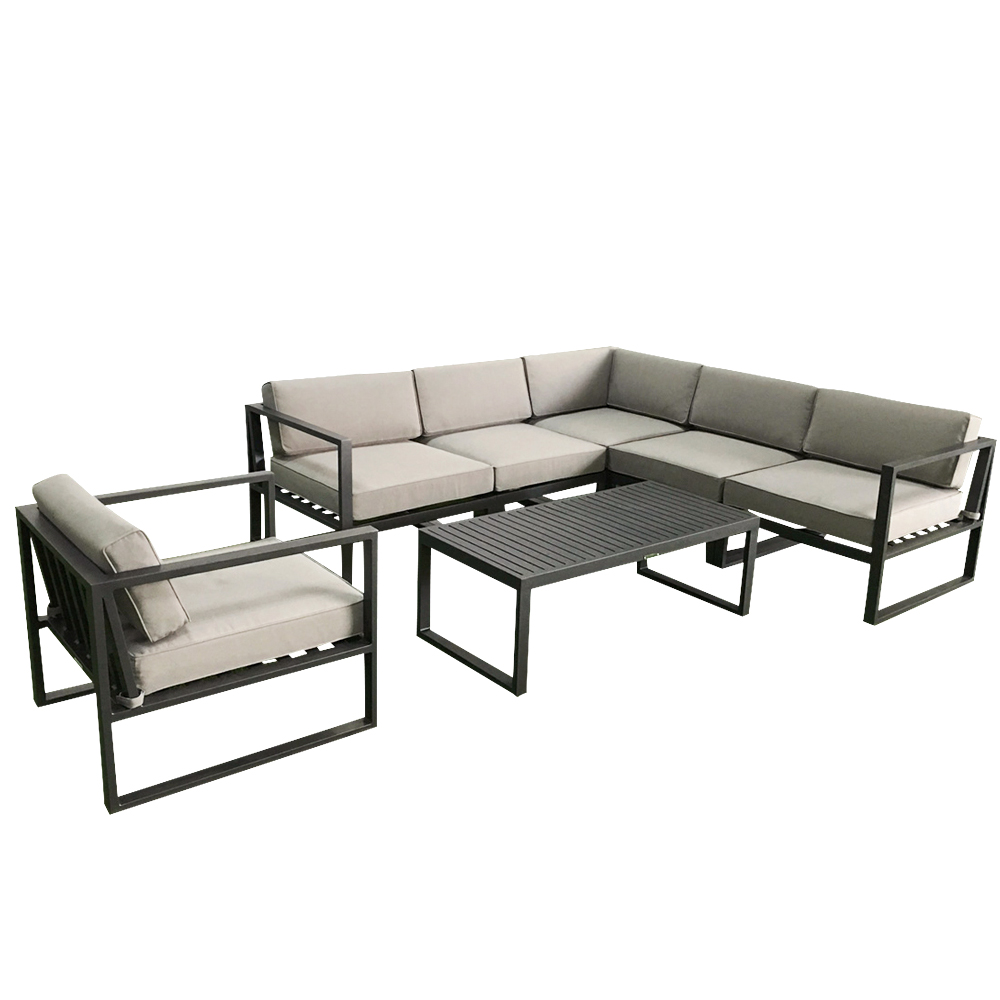 Simple Design Outdoor Aluminum Patio Furniture Set Metal Frame Sectional sofa