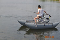 best-selling inflatable fishing pontoon boat with electric motor