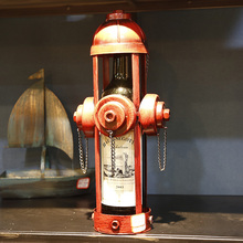 Wholesale New Exotic Iron Hydrant Wine Bottle Stand