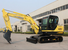 7.5 ton small hydraulic excavator,rubber or steel tracks,best selling digger,0.3cbm bucket and 39.8KW YANMAR0 engine