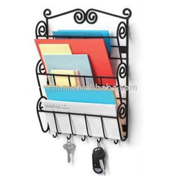 2016 Multifuction Metal 3 Tier Wall Mounted Mail Key Holder