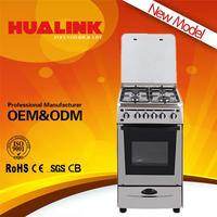 H-50BS08 2016 newest design!! 8mm tempered glass built-in gas hob wood fried pizza oven