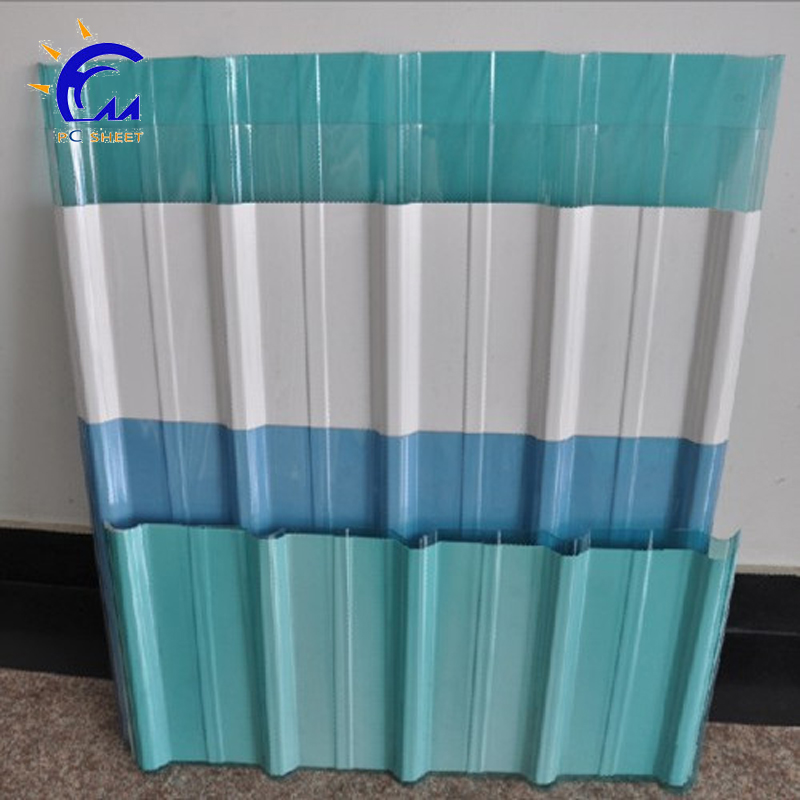 One stop gardens greenhouse parts corrugated polycarbonate sheet plastic roofing sheet for shed