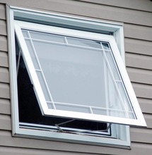 Construction aluminum awning windows