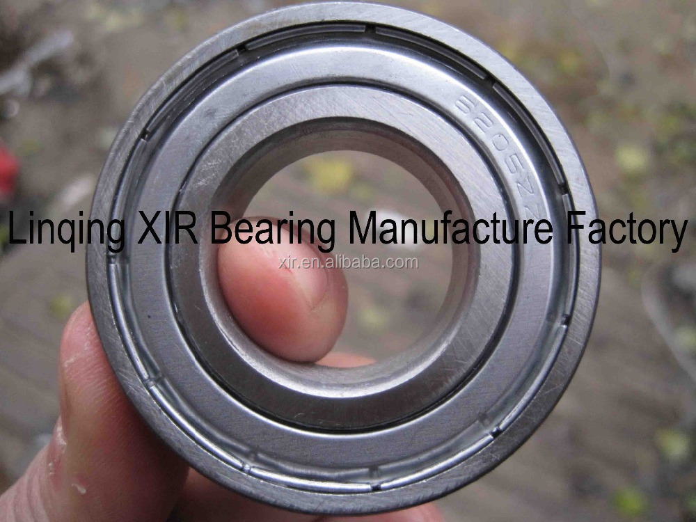 OEM deep groove ball bearing 6205ZZ chrome steel bearing ABEC-1