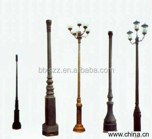 Garden outside lighting poles,Street decorative lamp poles China supplier
