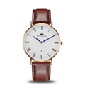 Super thin quartz stainless steel watch water resistant watch, leather vogue watches for men