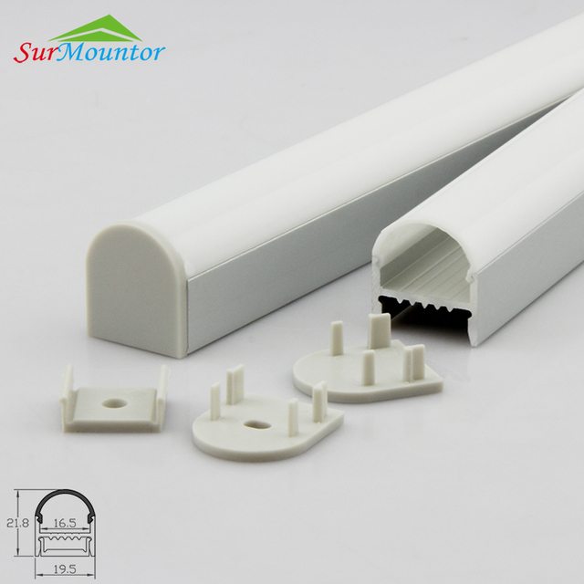 aluminium channel D001 for led strips U Profile with High Dome Face arched design for house