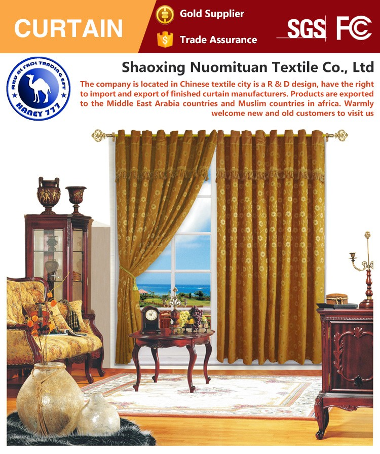 Perfect durable curtain for hotel/home window curtains for living room