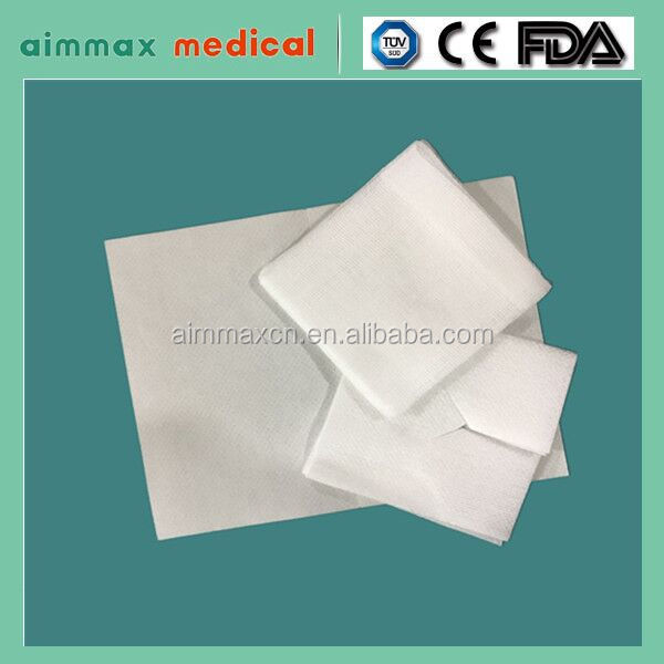 Gauze Absorbent Dental/Medical Hot selling 100% cotton /Medical 100% cotton cutting Gauze Swab very cheap good quality medical