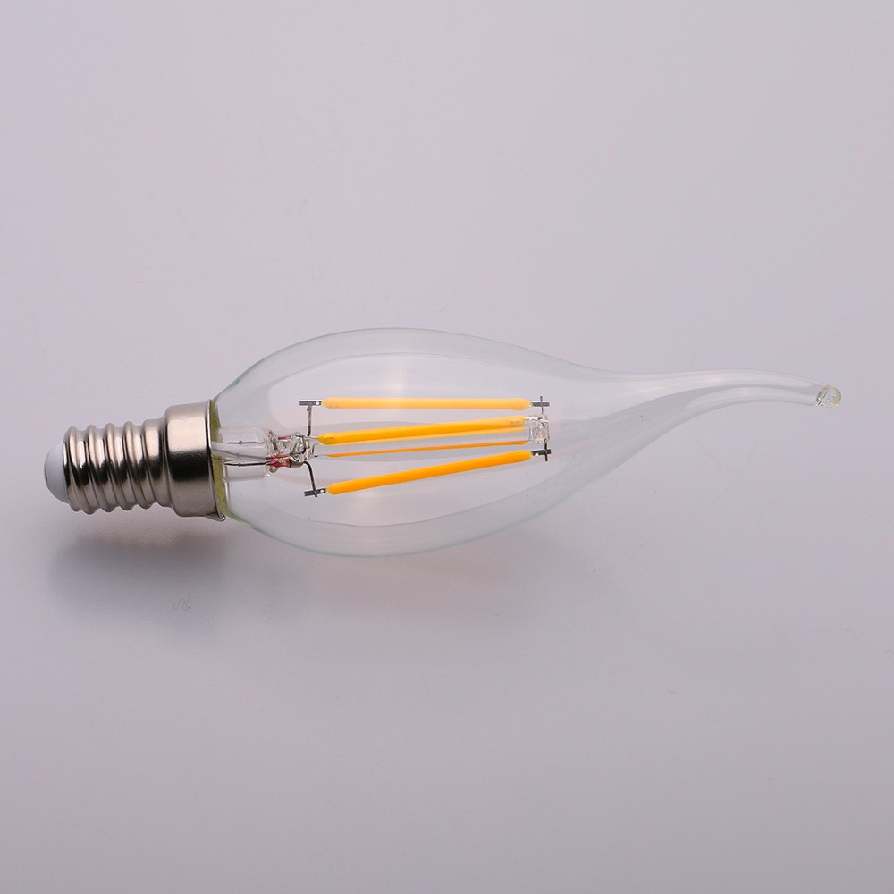 China supplier New products amber/clear glass E27 2-8w 220V led filament bulb