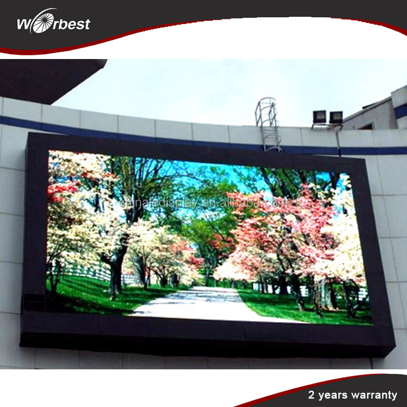 DIP / SMD HD P8 outdoor led display/ led screen / rental led display install on steel for big shopping mall