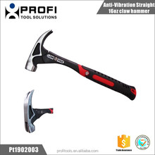 Anti-Vibration Straight 16oz claw hammer
