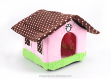 Hot selling soft cat bed indoor foldable plush pet house