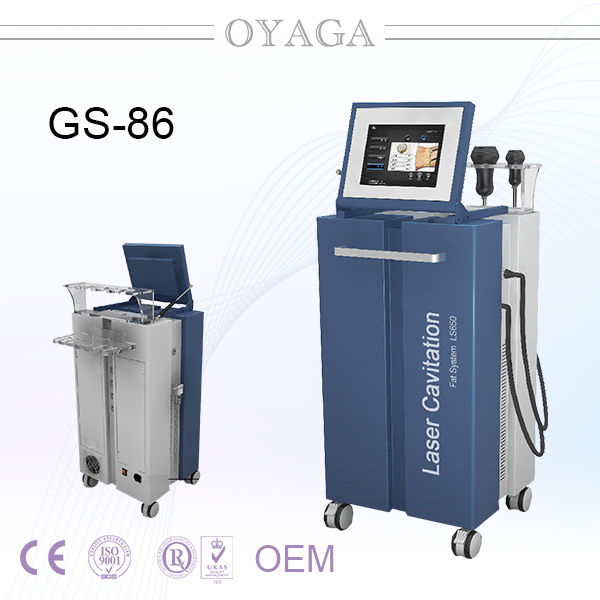 Ultrasonic Cavitation +RF +vacuum Cavitation Slimming Equipment/ LS650 Laser cavitation system GS86