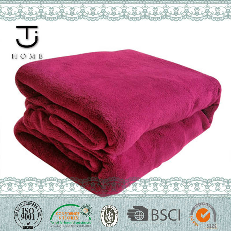 Winter warm polyester blanket factory china