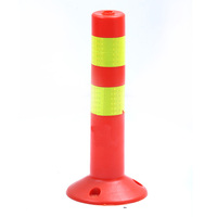 Hot Sale DINGTIAN Red Good Quality 450mm Height Road Safety Pole Flexible Warning Post