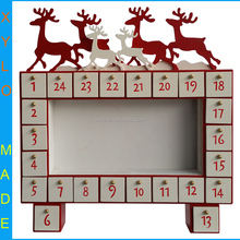 Wooden advent calendar drawers for Christmas gift