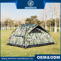 225*180*125cm Custom Printed Outdoor Family Hiking Tents Large Space Easy Folding Quick Open Tent