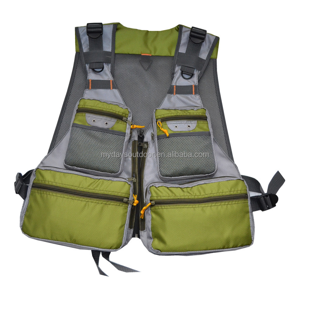 New Style Multi-Pockets Fly Fishing Vest Outdoor Chest Mesh Vest