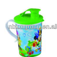 hot selling 3D handle cups with lids
