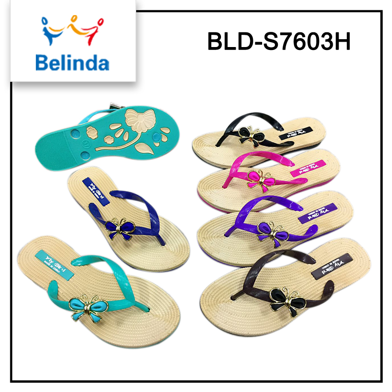 latest design popular product slippers brand name with different decorations