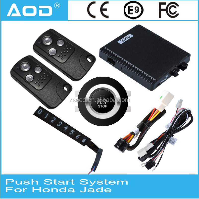 Auto smart keyless entry start stop remote start engine start system with GPS for Honda Jade