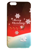 Ultra-slim shiny colour soft TPU gel hard PC plastic Christmas case cover for iPhone 6s/ 6s plus