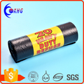 Customized sizes and thickness cheap price PE black garbage plastic bag on roll