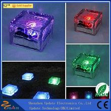 Solar Powered Frosted Waterproof Glass Led Solar Brick Paver Light Making Material Light Weight Brick