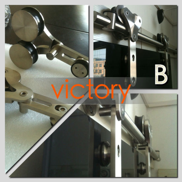 Victory series frameless glass sliding door,wall mounting installation assembly
