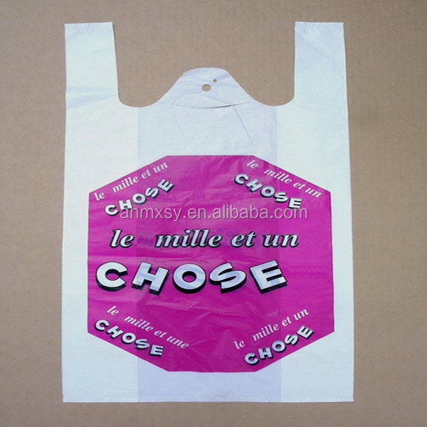 cornstarch eco friendly biodegradable t shirt bag