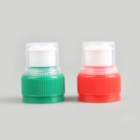 28mm plastic push pull sport water bottle cap with dust cover/Double safety mineral water bottle cap