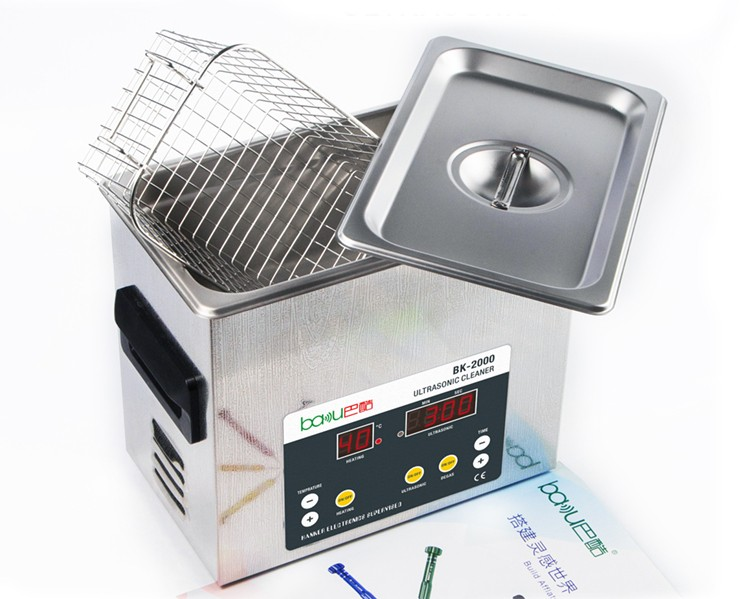 New 304 Stainless Steel Big Jewelry Digital Ultrasonic Fruit And Vegetable Cleaner Industry Heater With Basket Price BK 2000