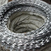 factory direct concertina barbed tape razor wire/Galvanized stainless steel sheet Scraper type razor barbed wire for protection