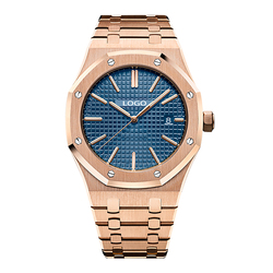 Watch fectory OEM all stainless steel AP stylish luxury mens quartz watch fasion gold watch