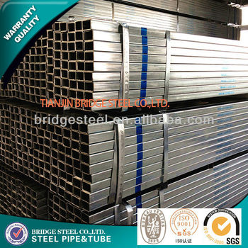 pre galvanized square pipe for Construction