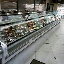 European style supermarket commercial luxury deli food display refrigerator meat display cabinets China retailer manufacturers