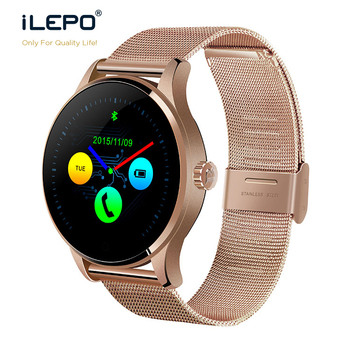 1.22inch round shape k88 smart watch changeable strap chinese bt 2017 smart watch