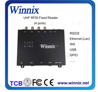 867Mhz wireless 24 meter Long range Impinj R2000 4 port uhf 902 928mhz rfid interrogator