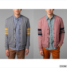 Hawkings McGill Varsity Cardigan Blue and red with contrast panel Paypal Payments