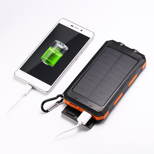 Wholesale hiqh quality output 12v portable waterproof mini solar charger power bank